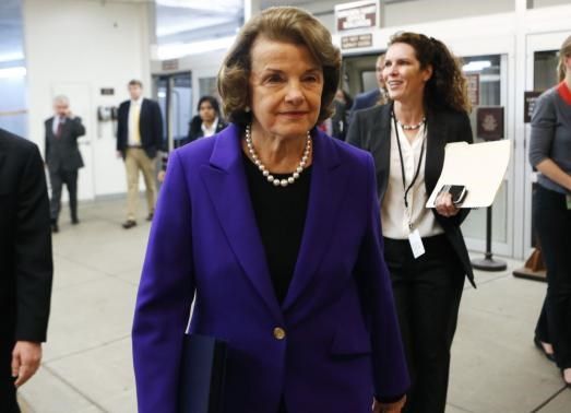 U.S. Senator Dianne Feinstein (D-CA) walks to the Senate floor on Capitol Hill in Washington December 9, 2014.