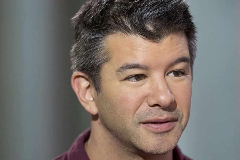 Travis Kalanick, co-founder and chief executive officer of Uber Technologies Inc., speaks during a Bloomberg Television interview in Hong Kong, on July 17, 2014.