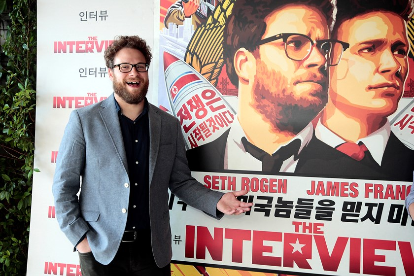 Seth Rogen during a photocall for his latest film 'The Interview' on June 18, 2014 in Barcelona, Spain