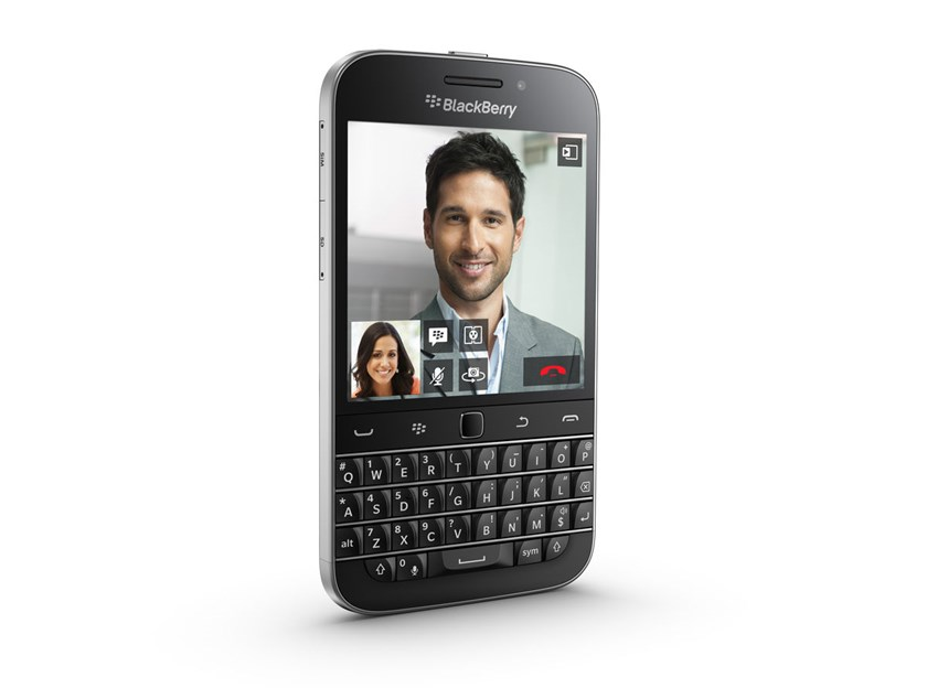 The Classic features a qwerty keyboard, trackpad and call and hang-up buttons nestled below a touch screen. It restores features largely abandoned on BlackBerry devices last year with the introduction of a new operating system.