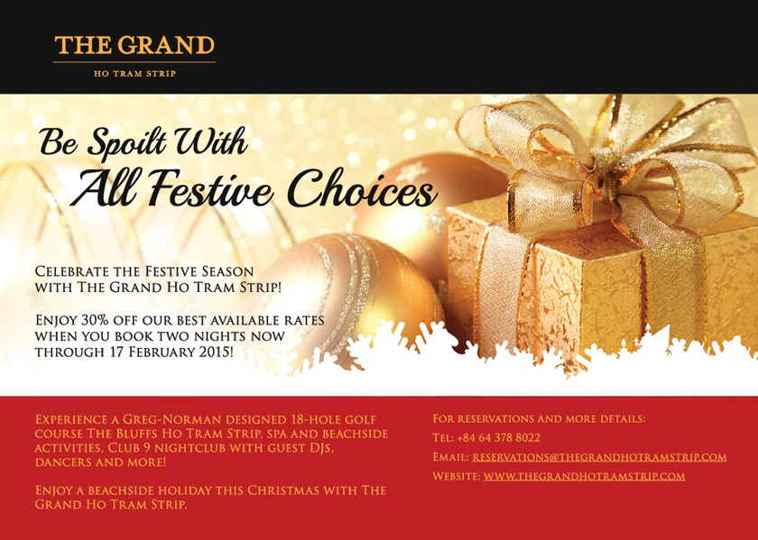 The Grand Ho Tram Strip rings in the Festive Season with Christmas Promotions