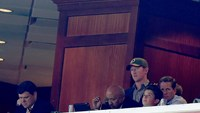 Retired Navy Seal Rob O'Neill (with hat) sits in the owners box during the Washington Redskins vs Tampa Bay Buccaneers game at FedExField on November 16, 2014 in Landover, Maryland