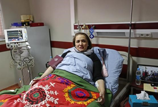 Afghan member of parliament Shukria Barakzai, speaks during an interview at a hospital after having survived an attack on November, in Kabul December 27, 2014.