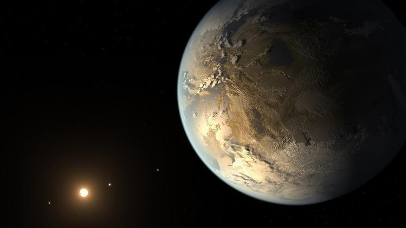 Kepler-186f is seen in a NASA artist's concept released April 17, 2014. The planet is the first validated Earth-size planet to orbit a distant star in the habitable zone which is a range of distance from a star where liquid water might pool on the planet'