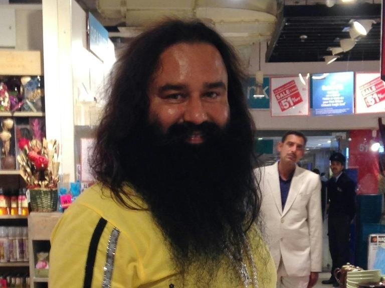 Indian spiritual guru Gurmeet Ram Rahim -- seen here on January 5, 2015 -- heads the Dera Sacha Sauda organisation based in Haryana state