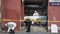 A sandwich outlet close to the mosque in Villefranche-sur-Saone, near Lyon, was hit by an explosion.
