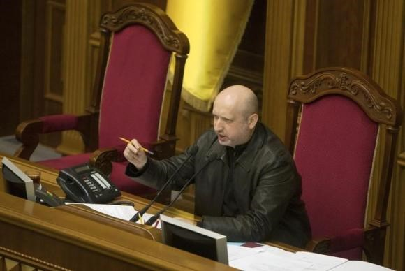 Speaker of parliament Oleksander Turchynov attends a session of the Ukrainian parliament in Kiev February 22, 2014.