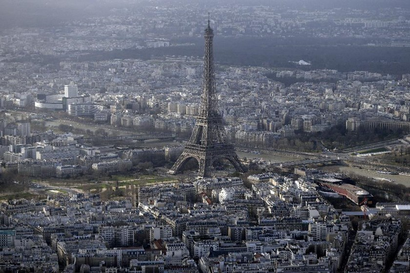 "Paris, seen in an aerial view on January 11, 2015, plans to sue Fox News for reports that there were ""no-go zones"" that police and non-Muslims avoid"