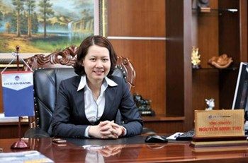 Nguyen Minh Thu, former chairperson and general director of Ocean Bank in a file photo