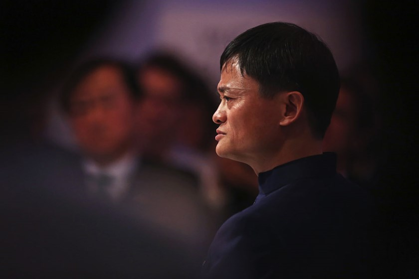 Jack Ma, chairman of Alibaba Group Holding Ltd., at the World Economic Forum (WEF) in Davos, Switzerland, on Jan. 23, 2015.