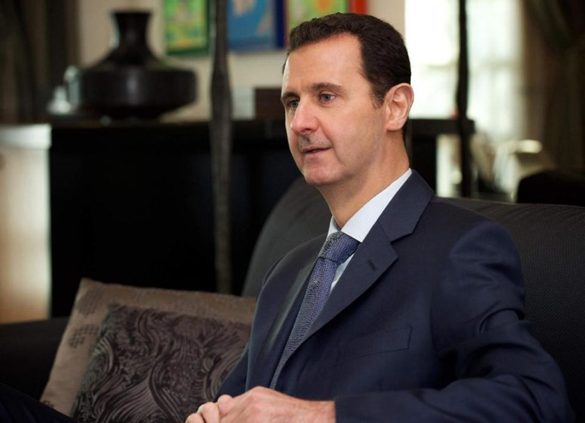 "Syrian President Bashar al-Assad says Damascus receives ""information"" about air strikes by the US-led coalition against the Islamic State group in Syria"