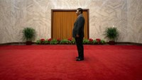 China's President Xi Jinping waits to greet Cuba's First Vice President of the Council of State Miguel Diaz-Canel at the Great Hall of the People in Beijing in this June 18, 2013 file photo.