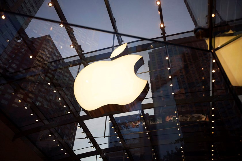 The Apple Inc. logo is displayed at the Upper West Side Apple store in New York. The Cupertino, California-based iPhone maker may be looking at the car business simply because it needs a way to spend money, said Sam Jaffe, a senior research analyst at Nav