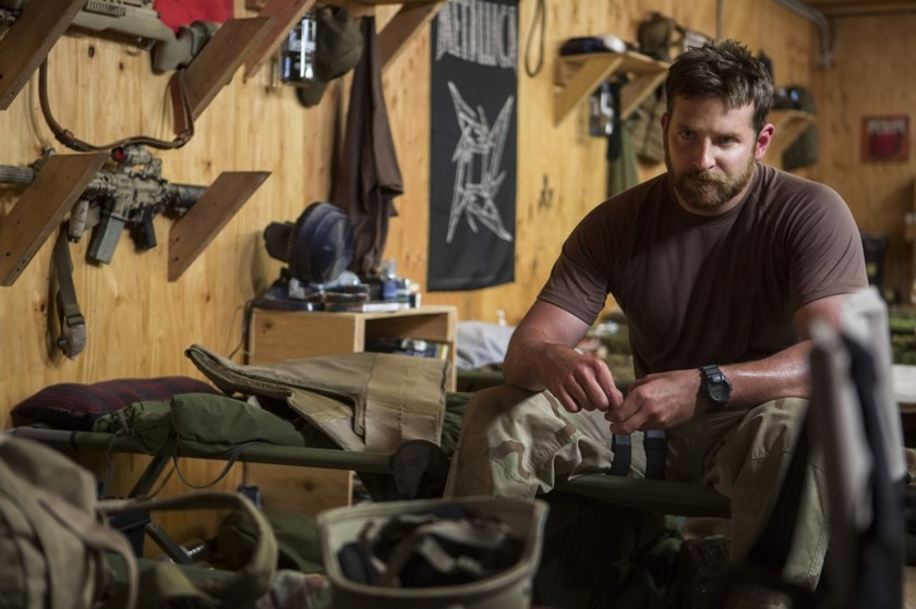 Bradley Cooper playing Chris Kyle in 'American Sniper.'