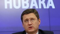 Russian Energy Minister Alexander Novak attends a news conference in Moscow, October 31, 2014.