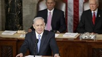 Israeli Prime Minister Benjamin Netanyahu addresses a joint meeting of Congress in the House Chamber on Capitol Hill, March 3, 2015.