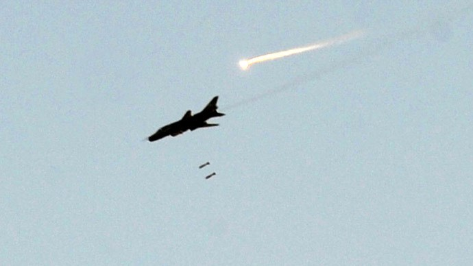 A Syrian army fighter jet. Photo:AFP