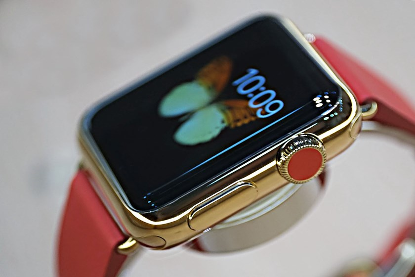 The Apple Watch Edition is 18k yellow or rose gold.