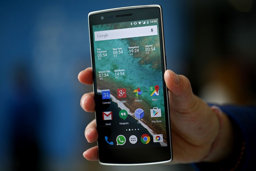 A OnePlus One smartphone.