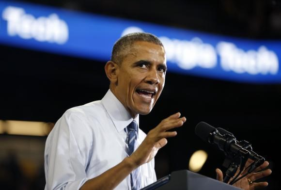 U.S. President Barack Obama speaks during a visit to Georgia Tech in Atlanta March 10, 2015.