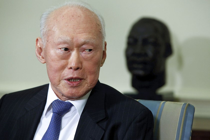 Lee Kuan Yew, first elected prime minister of Singapore.
