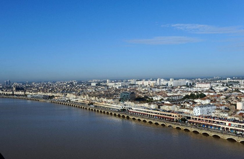 A aerial picture taken on October 23, 2012 in Bordeaux, southwestern France