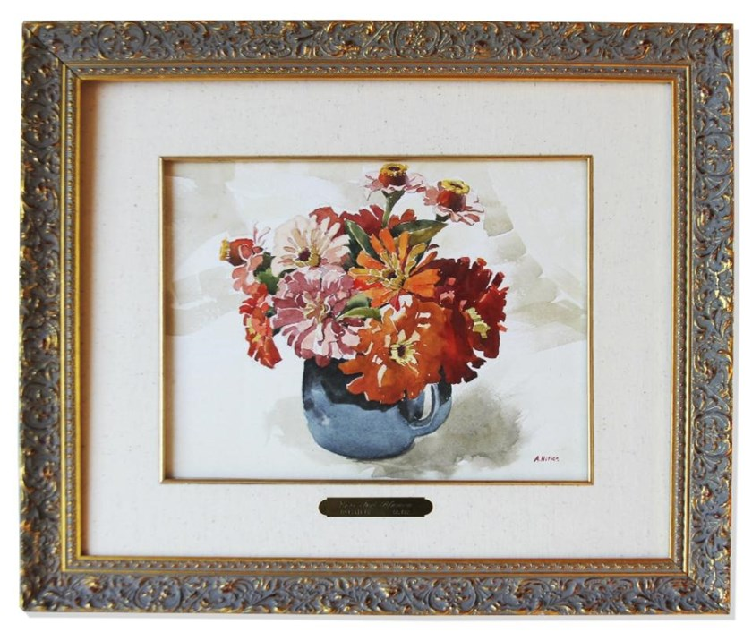 The still-life watercolor was painted by Adolf Hitler in 1912