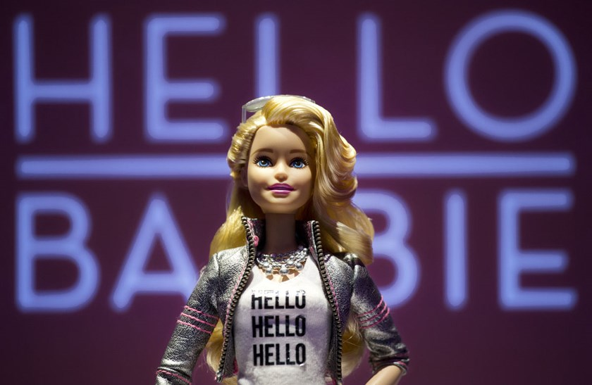 Hello Barbie is displayed at the Mattel showroom at the North American International Toy Fair, on Saturday, Feb. 14, in New York.