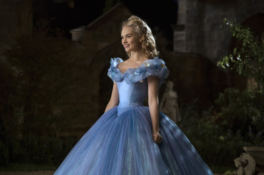 Lily James is Cinderella.