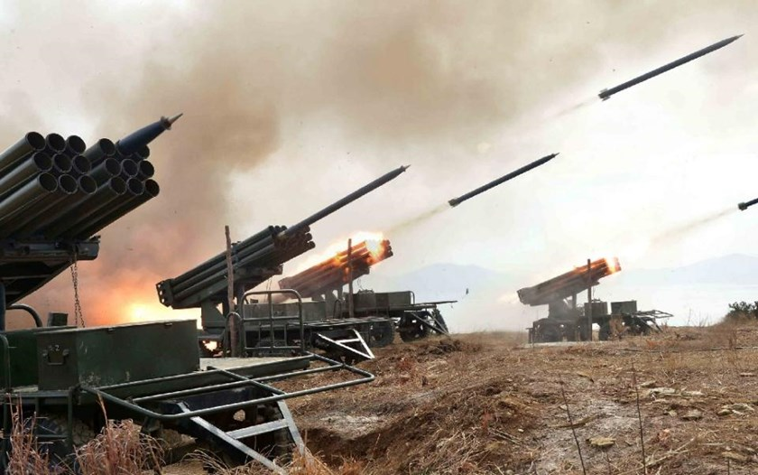 North Korea regularly test-fires missiles and rockets at times of joint US-South Korea military exercises, which always spark a sharp surge in tensions on the divided peninsula. Photo: AFP