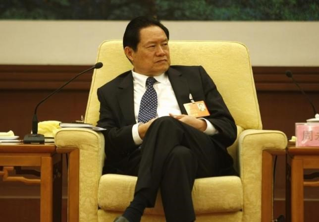 China's then Public Security Minister Zhou Yongkang attends the Hebei delegation discussion sessions at the 17th National Congress of the Communist Party of China at the Great Hall of the People, in Beijing in this October 16, 2007 file photo.