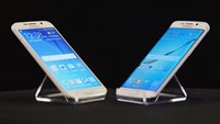 Samsung's Galaxy S6, left, and Galaxy S6 Edge