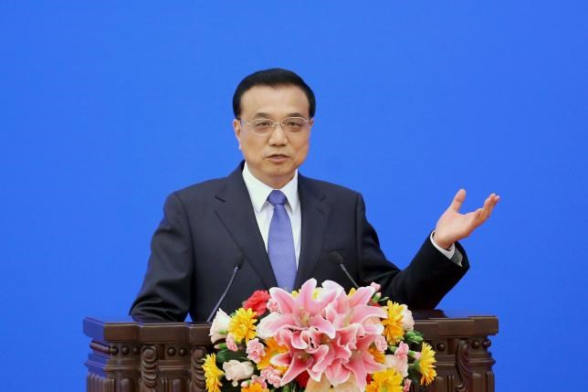 China's Premier Li Keqiang speaks during the Indonesia-China Economic Cooperation Forum at the Great Hall of the People on March 27, 2015 in Beijing, China.