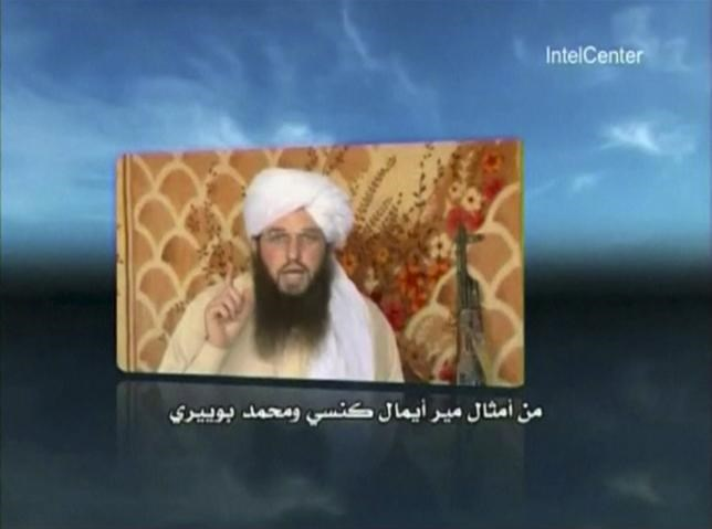 American al Qaeda member Adam Gadahn is shown in this image captured from an undated video courtesy of Intelcenter.