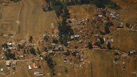 Collapsed and damaged houses are pictured from a helicopter after last week's earthquake at Sindhupalchok District, Nepal May 3, 2015.