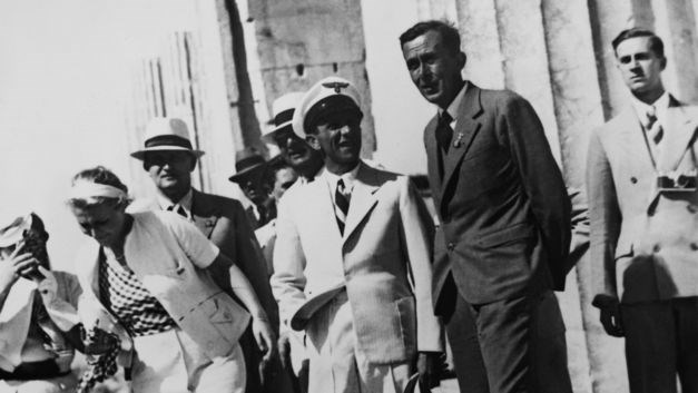 Nazi Minister Joseph Goebbels visits the Acropolis in Athens, Greece in 1939. Source: Keystone-France/Gamma-Keystone via Getty Images