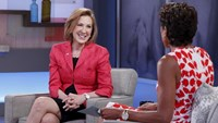 Former Hewlett-Packard Co Chief Executive, Carly Fiorina, is interviewed by Robin Roberts on ABC's program 'Good Morning America,' in New York City, May 4, 2015.