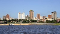A view of Asuncion on April 25, 2014