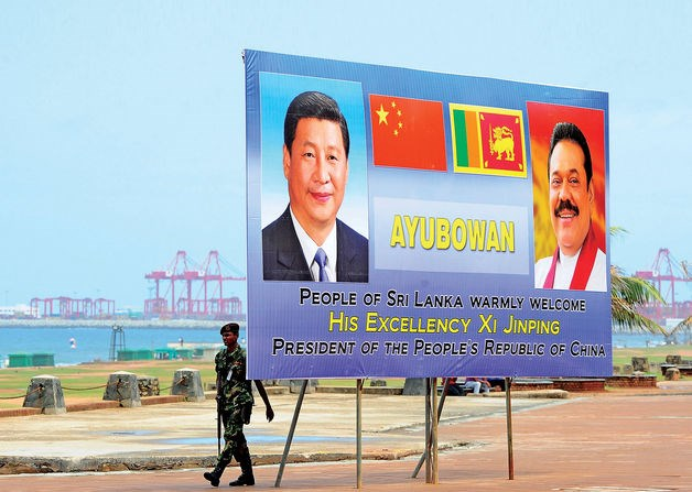 The Chinese president offered loans of $1.4 billion to build a new port city in Sri Lanka.