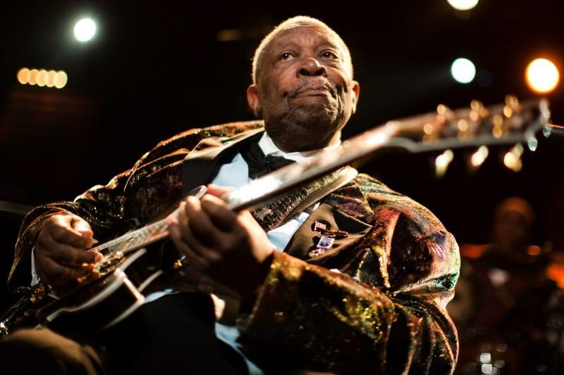 U.S. blues legend B.B. King performs onstage during the 45th Montreux Jazz Festival in Montreux July 2, 2011.