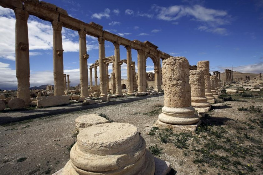 A partial view of the ancient oasis city of Palmyra, 215 kilometres northeast of Damascus, Syria, on March 14, 2014