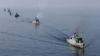 An Iranian Navy boat during exercises in the Strait of Hormuz in 2012