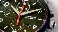 A Montblanc TimeWalker Urban Speed e-Strap wristwatch is displayed at the Le Locle factory. Photo: Bloomberg