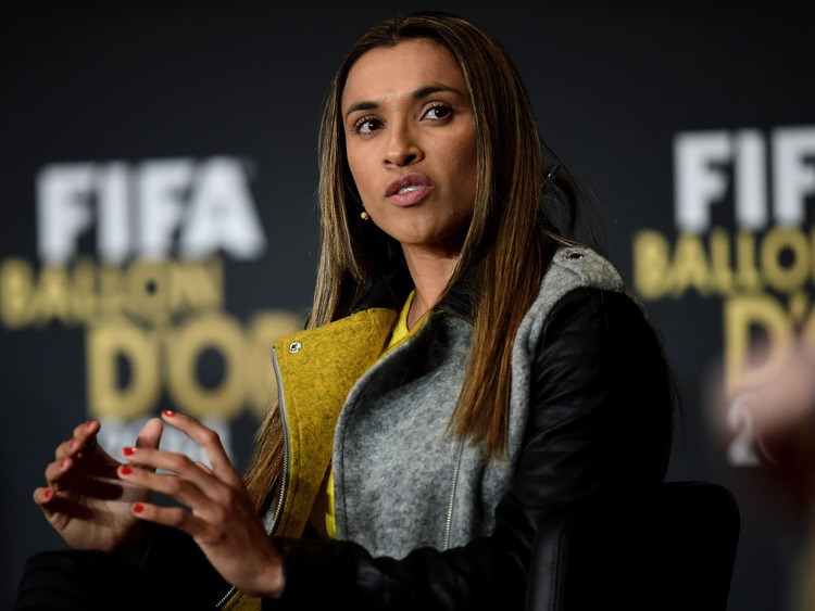 Record five-time FIFA Female Player of the Year Marta