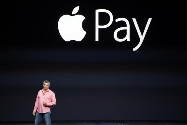 Eddy Cue, Apple's senior vice president of Internet Software and Service, introduces Apple Pay in September 2014.