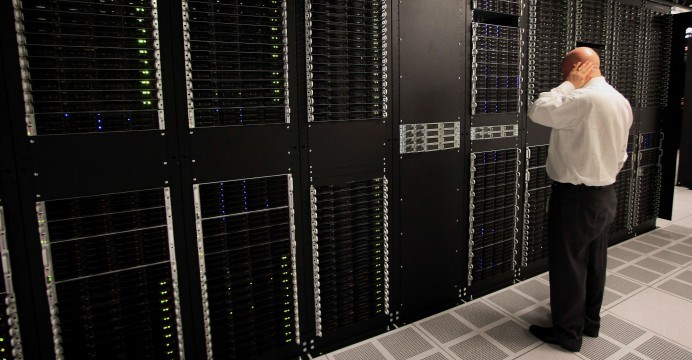 IBM servers are used in US communications networks and data centers that support the Pentagon's computer systems. Photo: Bloomberg