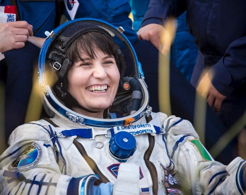 This NASA image shows Expedition 43 Italian astronaut Samantha Cristoforetti from European Space Agency after returning from the International Space Station, in Zhezkazgan, Kazakhstan on June 11, 2015