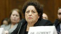 U.S. Office of Personnel Management Director Katherine Archuleta testifies before a House Oversight and Government Reform hearing.