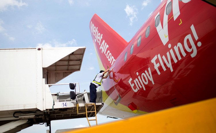 VietJet expects to receive six to twelve Airbus aircraft a year until its orders are complete, the company said in the statement. Photo: Bloomberg