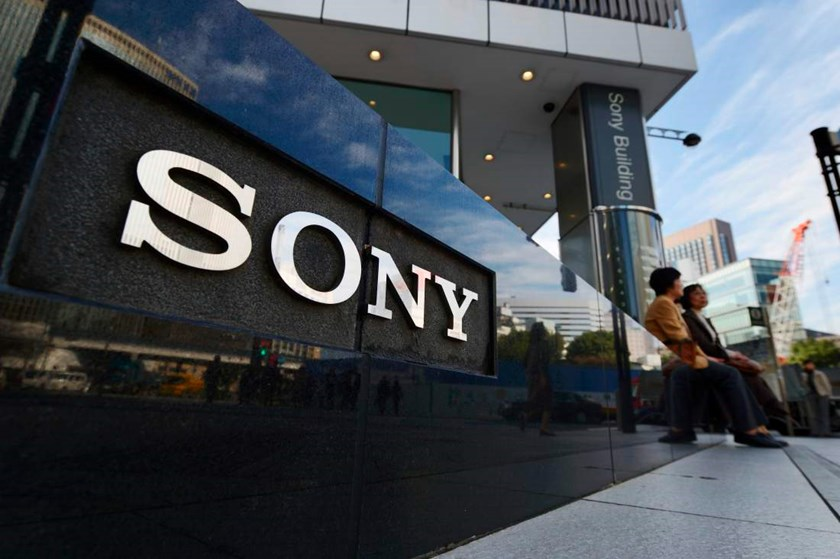The Sony Corp. logo is displayed outside the company's showroom in Tokyo on Oct. 30, 2013
